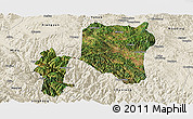 Satellite Panoramic Map of Nanhua, shaded relief outside