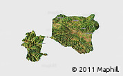 Satellite Panoramic Map of Nanhua, single color outside