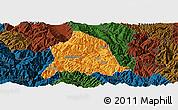 Political Panoramic Map of Nanjian, darken