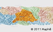 Political Panoramic Map of Nanjian, lighten