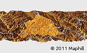 Political Panoramic Map of Nanjian, physical outside