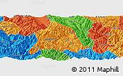 Political Panoramic Map of Nanjian