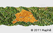 Political Panoramic Map of Nanjian, satellite outside