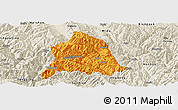 Political Panoramic Map of Nanjian, shaded relief outside