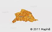 Political Panoramic Map of Nanjian, single color outside