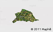 Satellite Panoramic Map of Nanjian, cropped outside