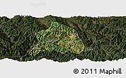 Satellite Panoramic Map of Nanjian, darken