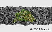 Satellite Panoramic Map of Nanjian, desaturated
