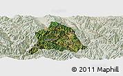Satellite Panoramic Map of Nanjian, lighten