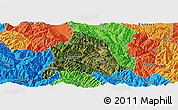 Satellite Panoramic Map of Nanjian, political outside