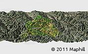 Satellite Panoramic Map of Nanjian, semi-desaturated