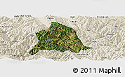 Satellite Panoramic Map of Nanjian, shaded relief outside