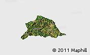 Satellite Panoramic Map of Nanjian, single color outside