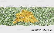 Savanna Style Panoramic Map of Nanjian