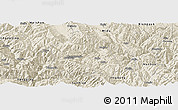 Shaded Relief Panoramic Map of Nanjian