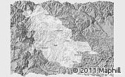 Gray Panoramic Map of Ninglang