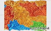 Political Panoramic Map of Ninglang