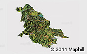 Satellite Panoramic Map of Ninglang, cropped outside