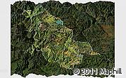 Satellite Panoramic Map of Ninglang, darken