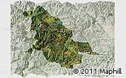 Satellite Panoramic Map of Ninglang, lighten