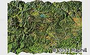 Satellite Panoramic Map of Ninglang