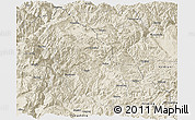 Shaded Relief Panoramic Map of Ninglang