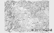Silver Style Panoramic Map of Ninglang