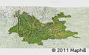 Satellite Panoramic Map of Yunnan, lighten