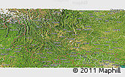 Satellite Panoramic Map of Yunnan