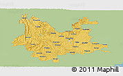 Savanna Style Panoramic Map of Yunnan, single color outside