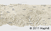 Shaded Relief Panoramic Map of Pingbian