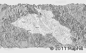Gray Panoramic Map of Puer