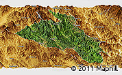 Satellite Panoramic Map of Puer, physical outside