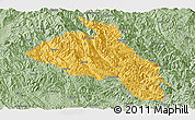 Savanna Style Panoramic Map of Puer