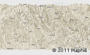 Shaded Relief Panoramic Map of Puer