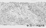 Silver Style Panoramic Map of Puer