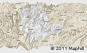 Classic Style Panoramic Map of Qiaojia