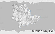 Gray Panoramic Map of Qiaojia, single color outside