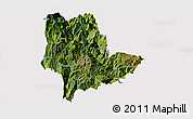 Satellite Panoramic Map of Qiaojia, cropped outside