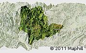 Satellite Panoramic Map of Qiaojia, lighten