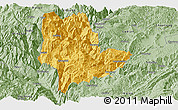 Savanna Style Panoramic Map of Qiaojia