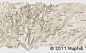 Shaded Relief Panoramic Map of Qiaojia