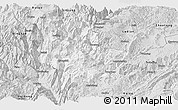 Silver Style Panoramic Map of Qiaojia