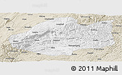 Classic Style Panoramic Map of Qiubei
