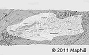 Gray Panoramic Map of Qiubei