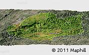 Satellite Panoramic Map of Qiubei, semi-desaturated