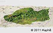 Satellite Panoramic Map of Qiubei, shaded relief outside