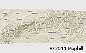 Shaded Relief Panoramic Map of Qiubei