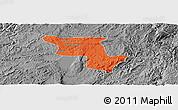 Political Panoramic Map of Qujing, desaturated