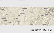Shaded Relief Panoramic Map of Qujing